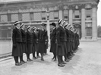 Princess Marina of Greece and Denmark - The Duchess inspecting cadets of the WRNS officers' training course, 1941