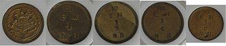 Hudson's Bay tokens - Hudson's Bay Company tokens