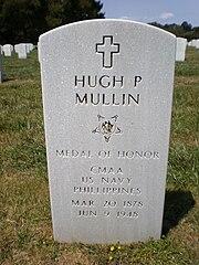 Hugh P. Mullin headstone front.JPG