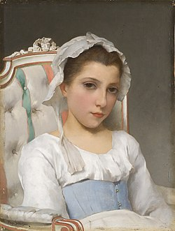 SALMSON Hugo (1843-1894) Portrait of a young girl
