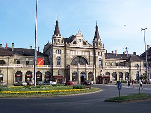 Hungarian State Railways - Railway station, Pécs.