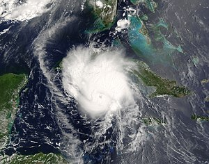 Hurricane Charley - Hurricane Charley approaching Cuba on August 12