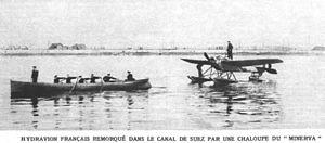 Nieuport VI - Image: Hydravion militaire francais sur le canal de Suez mars 1915