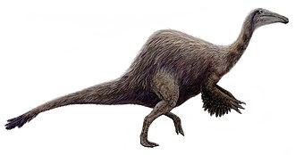 Coelurosauria - Image: Hypothetical Deinocheirus (flipped)