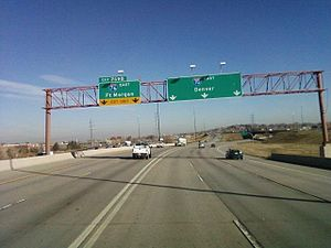 Interstate 76 (Colorado–Nebraska) - I-70 at its interchange with I-76