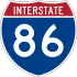 Interstate 86 marker