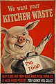 INF3-224 Salvage We want your kitchen waste (pig with dustbin) Artist Gilroy.jpg