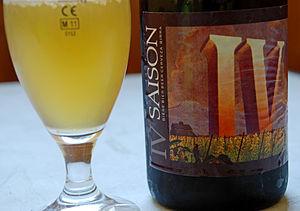 Seasonal beer - A saison beer