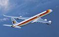 Iberia A340-600 in flight, banking right.jpg