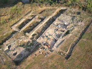 L'Esquerda Archaeological Museum - Aerial view of L'Esquerda Archaeological site