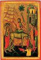 Icon 03045 Vezd v Ierusalim. Seredina XVI v. Ukraina.jpg
