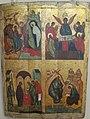 Icone, quattro scene evangelische, 1400-1450 ca, dalla chiesa di s giorgio, novgorod.JPG