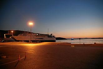 Greek National Road 6 - Port of Igoumenitsa, the start of GR-6