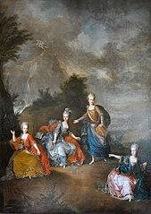 Représentation d'un opéra à Schoenbrunn, 24 janvier 1765