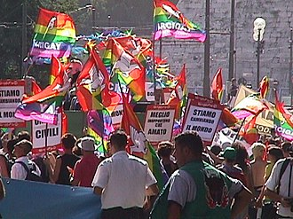 WorldPride - Image from the first WorldPride, held in Rome on July 8, 2000