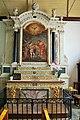 Ile de Bréhat Eglise Notre-Dame de Bonne-Nouvelle autel, retable, tableau le Baptême du Christ.jpg