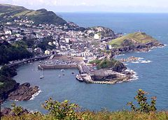 Ilfracombe seen from Hillsborough, Devon