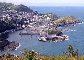 Ilfracombe, on the coast of North Devon. Ilfracombe.jpg