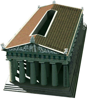 Himera - Ideal reconstruction of the Temple of Victory.
