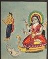 India, Calcutta, Kalighat painting, 19th century - The Goddess Ganga - 2003.127 - Cleveland Museum of Art.tif