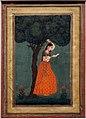 India, forse deccan, donna sotto un albero, xviii secolo.jpg