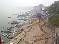 India - Varanasi - 001 - Killer view - the Ganga and ghats from our balcony.jpg