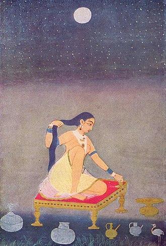 Indian painting - Image: Indischer Maler um 1650 (I) 001