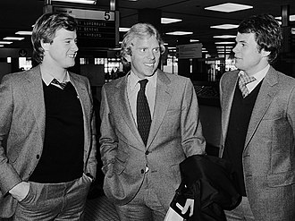 Magnus Andersson (footballer, born 1958) - Ingemar Erlandsson, Bob Houghton and Magnus Andersson (right) in 1979.