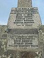 Inscriptions on Germoe War Memorial, Tregonning Hill - geograph.org.uk - 233480.jpg