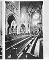 interieur met roosvenster en kerkbanken - alkmaar - 20005951 - rce