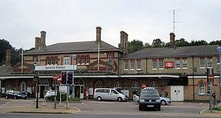 Ipswich railway station Station in Suffolk, England