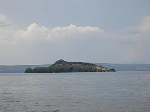 Lake island - Island Martana in Lake Bolsena, Italy