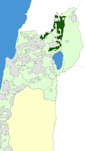 Israel Map - Upper Galilee Regional Council Zoomin.svg