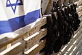 Israel flag and vests by Wailing Wall Victor 2011 -1.jpg