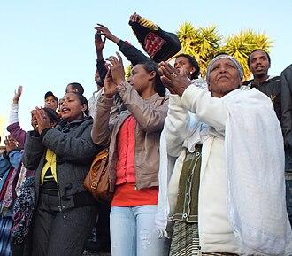 Aliyah from Ethiopia - Women in Kiryat Malakhi, 2012.