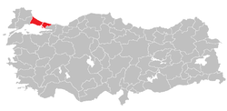 Location of استنبول ذیلی علاقہ Istanbul Subregion