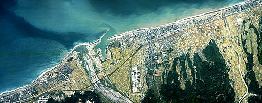 Itoigawa city center area Aerial photograph.1976