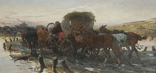 Jews were leading the horses on the market
