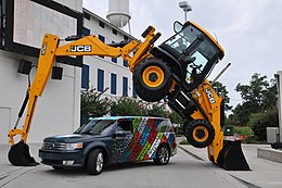 JCB 3CX backhoe loader, Florida, backhoe trick 8.jpg
