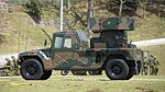 JGSDF Type 93 Surface-to-air missile(04-4187) left rear view at Camp Shinodayama April 16, 2017.jpg