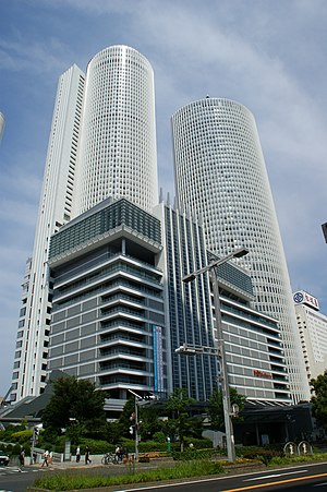Nagoya Station - JR Central Towers, part of the station,  directly adjacent the platforms