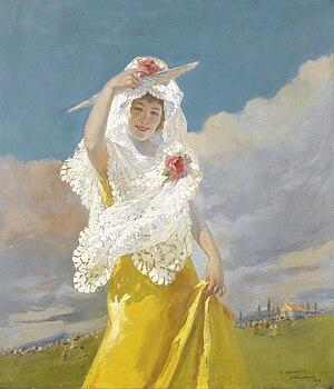 Julio Vila y Prades - Image: JVP 1913 Una española con mantilla