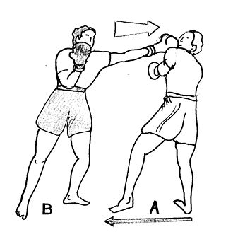 One-two combo - A drawing of a jab.