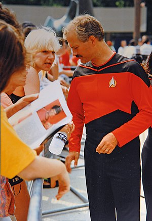Jack Layton - Jack Layton wearing a custom made uniform at a Star Trek convention in 1991.