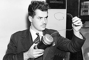 Jack Parsons (rocket engineer) - Parsons in 1938, holding the replica car bomb used in the murder trial of police officer Captain Earl Kynette