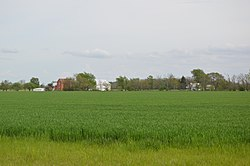 Fields along State Route 12
