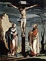 Jacob Clauser (Werkstatt) - Christus am Kreuz zwischen Maria und Johannes, um 1560.jpg
