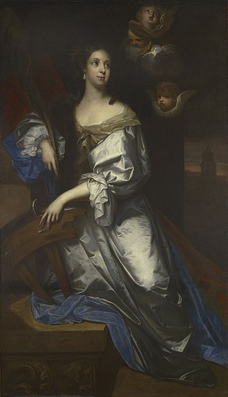 Catherine of Braganza - Queen Catherine as St Catherine of Alexandria, by Jacob Huysmans
