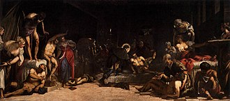 1549 in art - Tintoretto – St. Roch in the Hospital, San Rocco, Venice