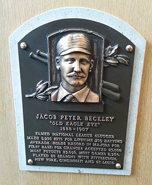 Jake Beckley - Beckley's plaque at the Baseball Hall of Fame